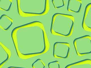 HD Wallpaper | Background Image Yellow Lime Shape 3D Green
