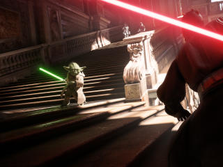 Yoda Vs Darth Vader Star Wars Battlefront 2 wallpaper