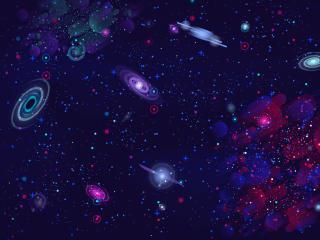 Cosmos HD Galaxy Minimalist wallpaper