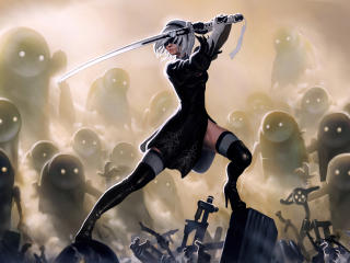 YoRHa No 2 Type B NieR wallpaper