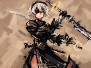YoRHa No.2 Type B wallpaper