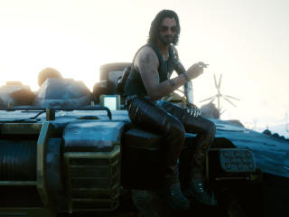 You're Breathtaking Keanu Reeves Cyberpunk 2077 wallpaper