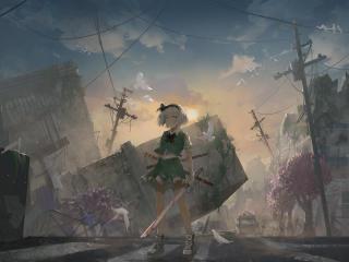 Youmu Konpaku Digital Art wallpaper