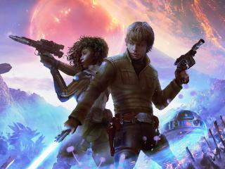 Young Jedi Luke Skywalker wallpaper