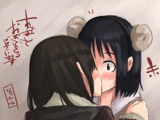 yuri kuma arashi, anime, couple wallpaper