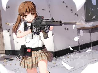 yuri shoutu, anime, girl wallpaper