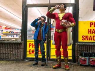 Zachary Levi And Asher Angel In Shazam Movie wallpaper