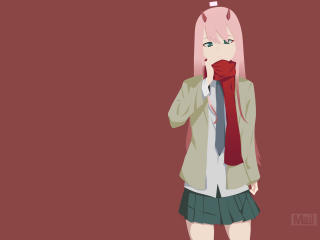 Zero Two Minimalist wallpaper