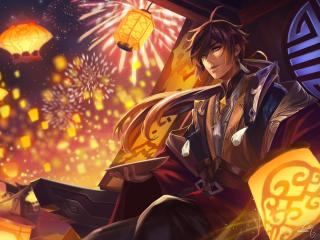 Zhongli Art Genshin Impact wallpaper