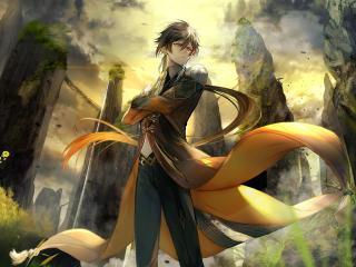 Zhongli Genshin Impact 4K wallpaper