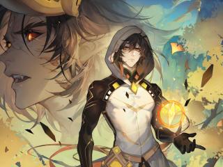 Zhongli Power Genshin Impact wallpaper