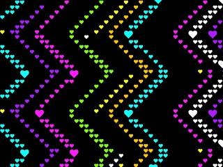 Zig Zag Hearts Pattern wallpaper
