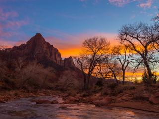 Zion National Park Evening wallpaper