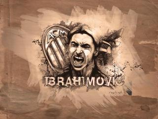Zlatan Ibrahimovic HD Art wallpaper