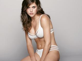 Zoe Duchesne In Sexy White Lingerie wallpapers wallpaper