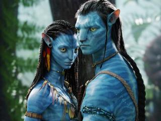 Zoe Saldana and Sam Worthington Avatar Movie wallpaper