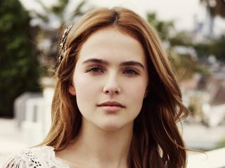 zoey deutch, actress, red-haired wallpaper