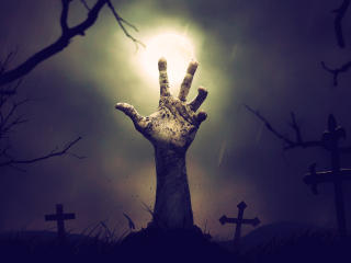 Zombie Hand From Cemetery wallpaper