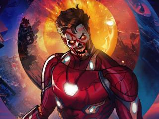 Zombie Iron Man What If wallpaper