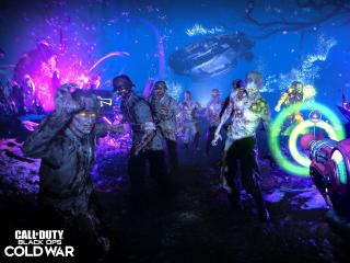 Zombies Fight in Call of Duty Cold War wallpaper