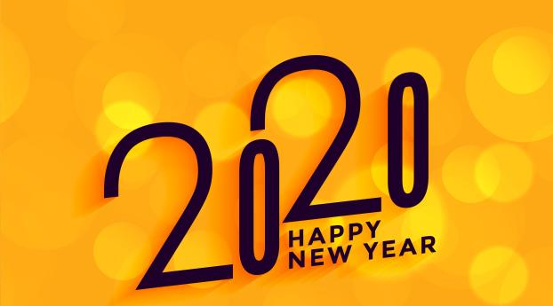 HD Wallpaper | Background Image 2020 New Year