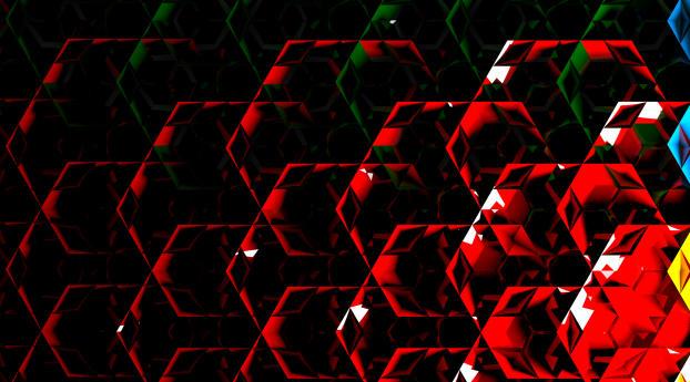 3D Digital Art Shapes Wallpaper 1280x1024 Resolution