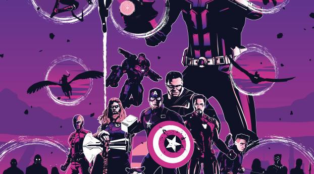 4K Avengers Endgame Art Wallpaper 640x960 Resolution