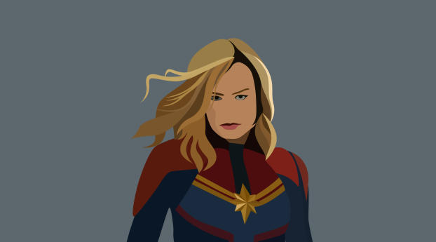 HD Wallpaper   Background Image 4K Captain Marvel Artwork Minimal