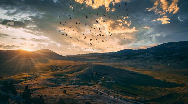 4K Dramatic Sunset over Blidinje Wallpaper