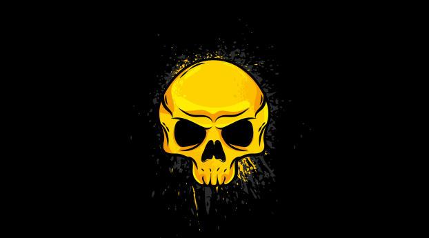 HD Wallpaper | Background Image 4K Gold Skull