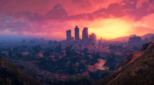 HD Wallpaper | Background Image 4K Grand Theft Auto V Scenery