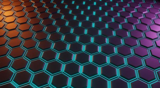 HD Wallpaper | Background Image 4K New Hexagon Pattern