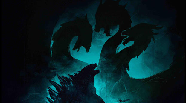 4K Poster Of Godzilla King of the Monsters Wallpaper