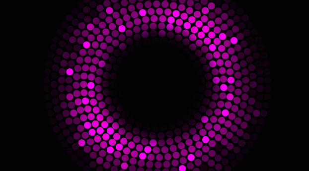 4K Purple Circles Violet Black Wallpaper