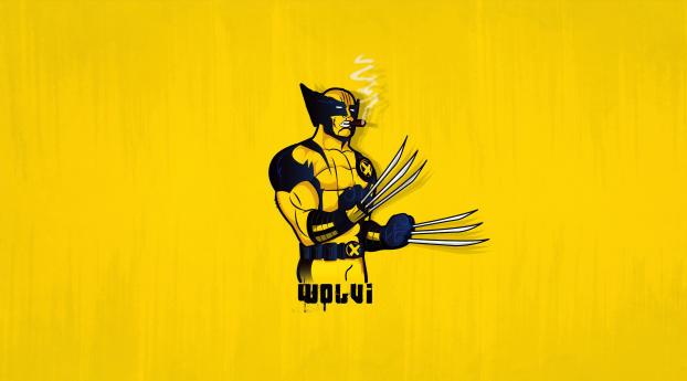 HD Wallpaper | Background Image 4k Wolverine Minimal