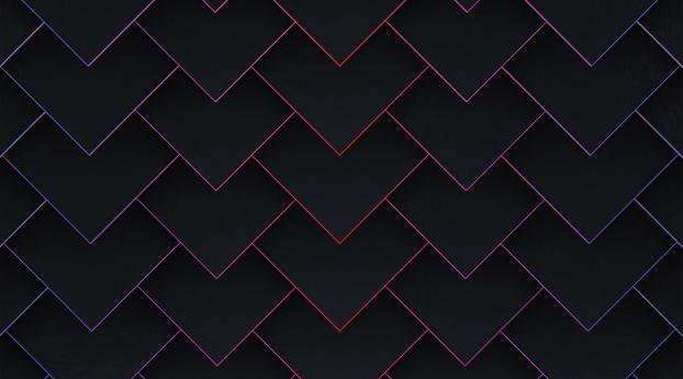 5K Minimalist Diamond Shape Pattern Wallpaper