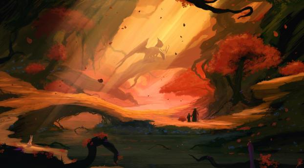 A Loyal Dragon Artistic Wallpaper 720x1280 Resolution