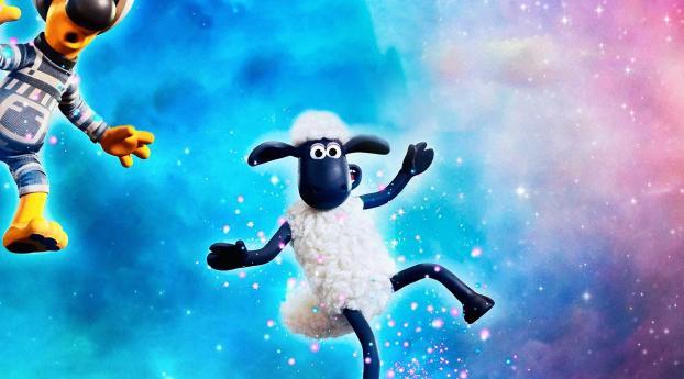 A Shaun the Sheep Movie Farmageddon Wallpaper 1440x2960 Resolution