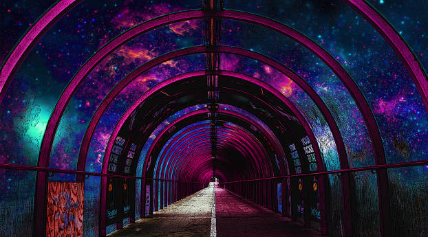 A Space Tunnel Wallpaper
