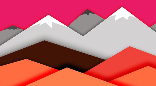 Abstract Mountain Arts Wallpaper 1360x768 Resolution