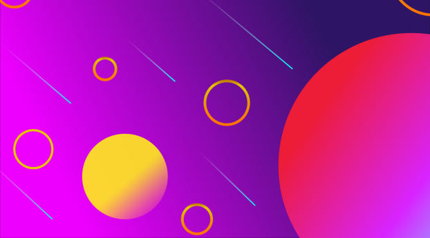 HD Wallpaper | Background Image Abstract Purple and Yellow Circles