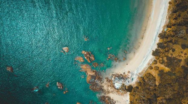 Aerial View Of Ocean Wallpaper