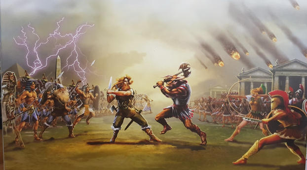 HD Wallpaper | Background Image Age of Mythology Game Poster