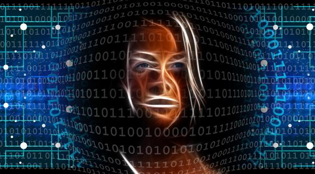 AI Binary Code 5K Wallpaper
