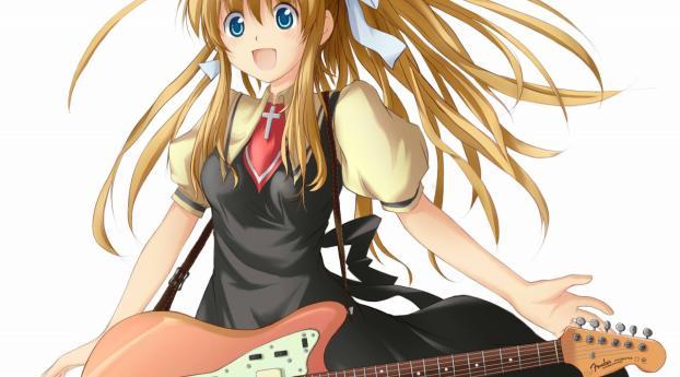 air, girl, guitar Wallpaper