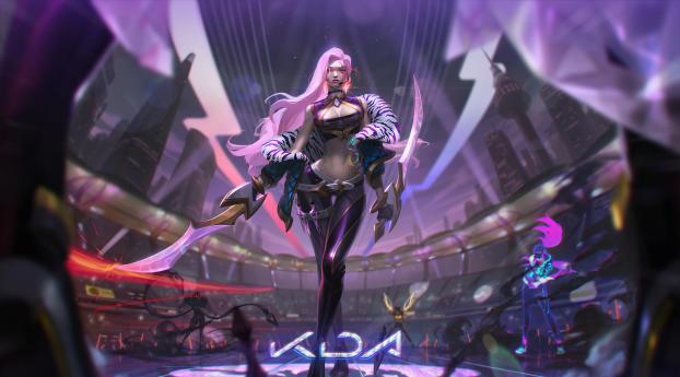 Akali League Of Legends 4K Wallpaper 3840x2400 Resolution