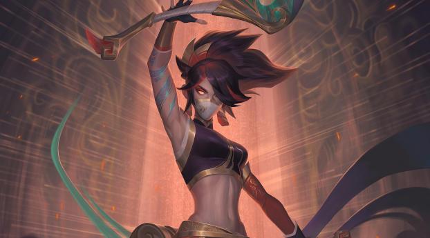 Akali New League Of Legends Wallpaper 2160x3840 Resolution