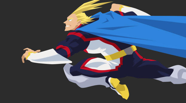 HD Wallpaper | Background Image All Might 4K My Hero Academia