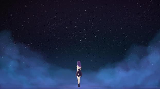 HD Wallpaper | Background Image Alone In The Dark 8K Art