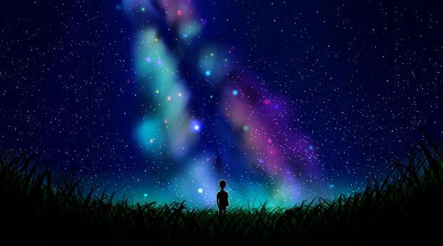 Alone In The Universe Art Wallpaper